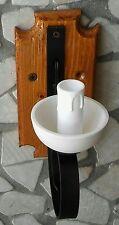 Applique rustico in ferro battuto e legno 1 luce