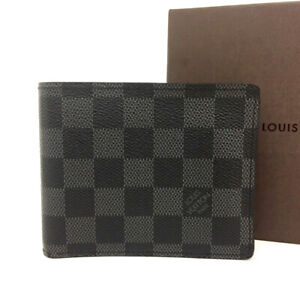 Louis Vuitton Damier Graphite Portefeiulle Marco Bifold Wallet /90516