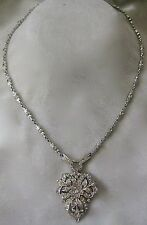Beautiful French Paste Art Deco Vintage Ornate Necklace