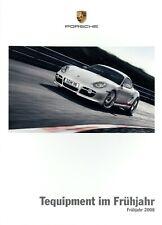 Porsche Tequipment Frühjahr Prospekt 2008 2/08 Zubehör brochure broschyr
