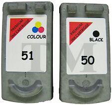 2 regenerados Cartucho de tinta PG-50. Negro  CL-51 Color. Canon Pixma MP160