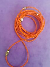 "Sexy African Single Waist Beads, Orange ; 22""inches long New FREE P&P"