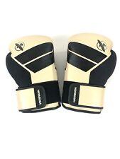 Hayabuas Black Tan S4-L Boxing Gloves With Hand Wrap 16oz Thai KickBoxing