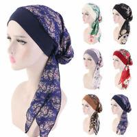 Women Cancer Head Scarf Chemo Hair Loss Hat Turban Pre-Tied Headwear Bandana AU