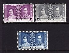FIJI 1937 CORONATION SET SG 246-248 MNH.