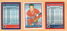 1993 OPC Fanfest Canadiens' Henri Richard Card & Promo