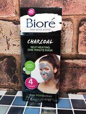 Bioré Self-Heating One Minute Charcoal Masks 4 Sachets 7.0g.