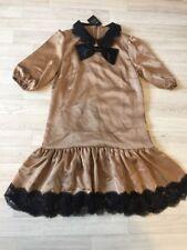 Dolce And Gabbana Dress Gold Black Lace IT42 UK10 New Vintage A line £600+ D&G