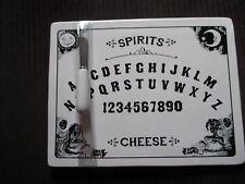 New! Ouija Board Halloween Decor Cheese Cutting Board & Platter Tray w/Knife