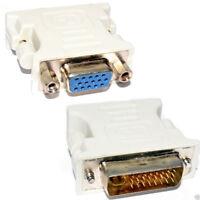 NEW DVI Adapter DVI-I 24 + 4 pin to VGA SVGA Female HD15 UK Wholesale Prices