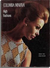 Columbia Minerva High Fashions, Book 760 - 1960s Women's Clothes Knitting Book!