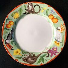 LYNN CHASE porcelain dinner plate MONKEY BUSINESS