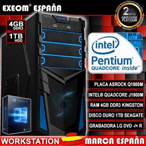 Ordenador Pc De Sobremesa Intel Quad Core 9,6GHz 4GB RAM 1TB HDMI USB3.0 Windows