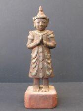 Praying Wooden with Glassware, Burma