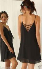 V-Neck Polyester Spaghetti Strap Dresses for Women