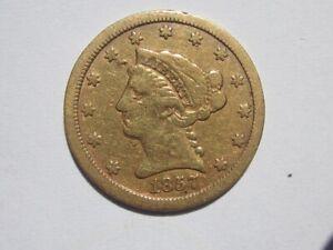 1857-S LIBERTY HEAD QUARTER EAGLE $2.5 DOLLAR GOLD PRE CIVIL WAR SAN FRANCISCO
