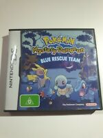 CASE + BOOKLET ONLY - Genuine Pokemon Blue Rescue Team Nintendo DS REPLACEMENT