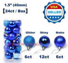 24ct Christmas Ball Ornaments Shatterproof Christmas Tree Decorations ❶USA❶ BLUE