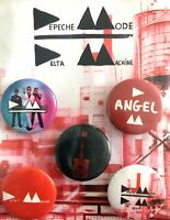 SET BADGES DEPECHE MODE DELTA MACHINE TOUR MERCHANDISING OFFICIEL TOUR RARE 2013