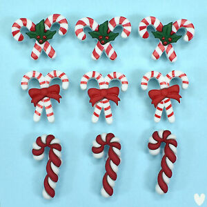 BUTTONS GALORE Candy Cane Lane 4767 - Christmas Sweets Peppermint Dress It Up