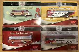 Soccer Coca Cola Bus Collection Models Gift Limited Editions HO Fifa Football