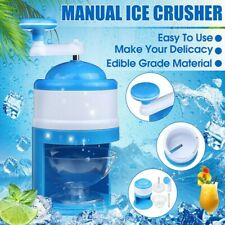 Portable Manual Ice Shaver Crusher Shredding Hand Crank Snow Cone Maker Machine