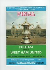 Fulham V West Ham United programme FA Cup Final, May 1975. GC
