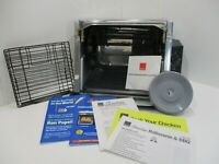 Ronco 3000 Compact Showtime Rotisserie & BBQ Oven & accessories Stainless