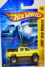 HOT WHEELS 2007 NEW MODELS DODGE RAM 1500 #05/36 YELLOW FACTORY SEALED