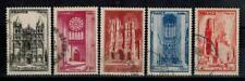 (b10) timbres France oblitérés n° 663/667 année 1944