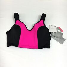 Marika High Impact Size 42 D Underwire Hot Pink & Black Sports Bra NWT