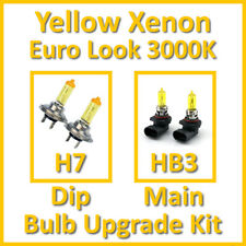 Warm White 3000K Yellow Xenon Headlight Bulb Set Main Dip Fog H7 HB3 Kit