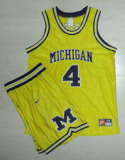 Nike 1994 Michigan Wolverines Authentic jersey and shorts set Webber Fab Five