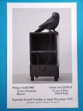 Affiche originale Philippe GUILLEMET 1999 Sculpture Oiseau Moineau Pigeon Angers