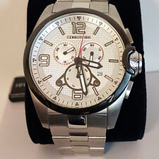 Cerruti 1881 CRA088G211G silver Chronograph Stainless Steel Men's Watch NEW
