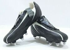 Nomis Striker SG Wet Control Retro Football Boots Blk/White/Silver/Red New