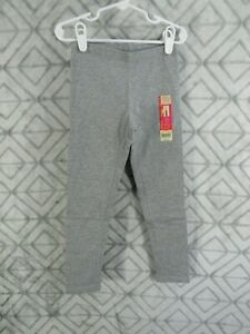 New Faded Glory Ankle Legging Size S 6 6X Girls Gray Elastic Waistband Casual