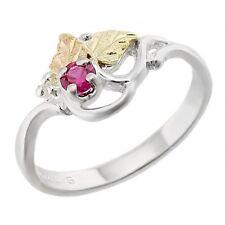 Landstroms Black Hills Gold on Sterling Silver Ring with Ruby Size 6