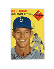 DON HOAK signed 1954 TOPPS baseball card #211 DODGERS
