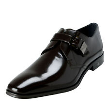 versace spazzolato leather monk strap loafer