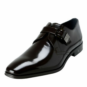 Versace Collection Men's Brown Polished Leather Loafers Shoes 6 7 8 9 10 11 12