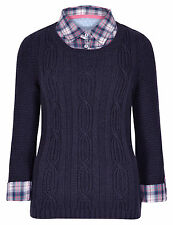 Per Una Women's Chunky, Cable Knit Knit None Jumpers & Cardigans