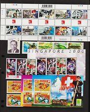 Singapore - 5 sets, 3 souvenir sheets from 1999-2000, cat. $ 38.60