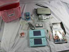Blue Nintendo DS Lite Console, Games, Charger, Manual, Case, Stylus