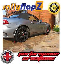 rallyflapz FIAT 124 SPIDER (2017 NERO 4mm PVC PARAFANGHI X4 SCORPIONE LOGO ROSSO