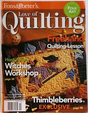 LOVE OF QUILTING Magazine Sep-Oct 2005 Freehand Quilting Lesson WITCHES Workshop