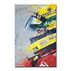Ayrton Senna Poster F1 Formula Grand Prix Silk Canvas Poster 13x20 24x36 inch