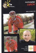 CYCLISME carte cycliste  ALEXANDRE USOV équipe COFIDIS 2009