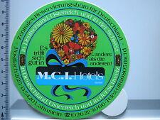 Aufkleber Sticker - M.C.I. Hotels Deutschland Österreich Schweiz (2549)