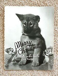 Rare Disney Animator/Legend Bill Justice Chip & Dale Merry Christmas Card